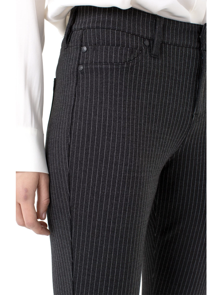 Liverpool Madonna Pinstripe Legging in Charcoal/White