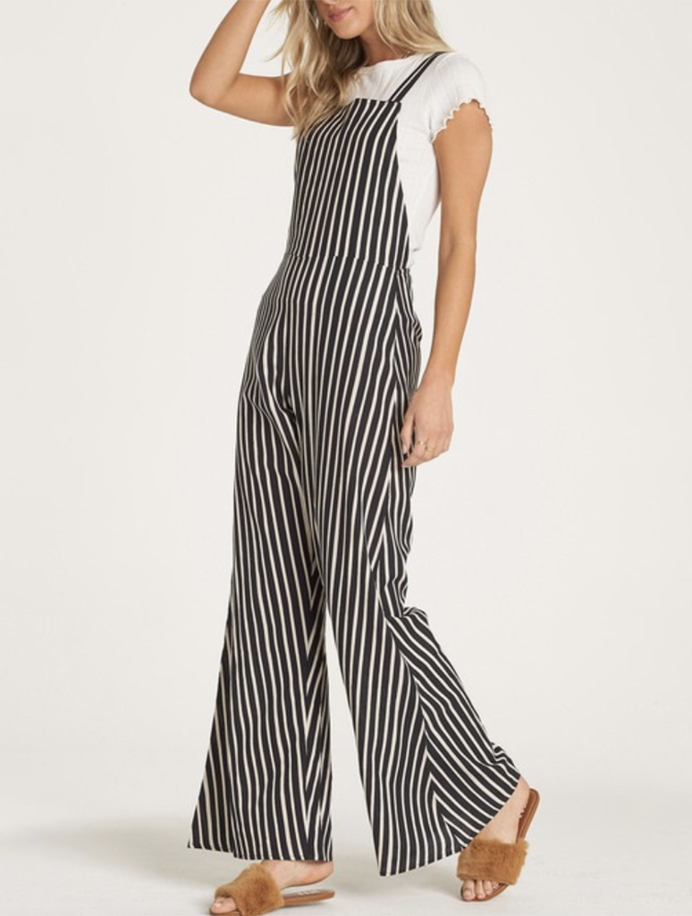 Billabong Still Here Jumpsuit Overalls Pant in Black