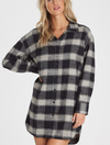 Papillon Plaid Pocket Dress in Grey