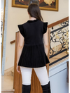THML Sleeveless Peplum Sweater in Black