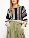 Free People Show Me Love Pullover Sweater in Black