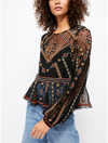Free People Give A Little Mesh Top in Black