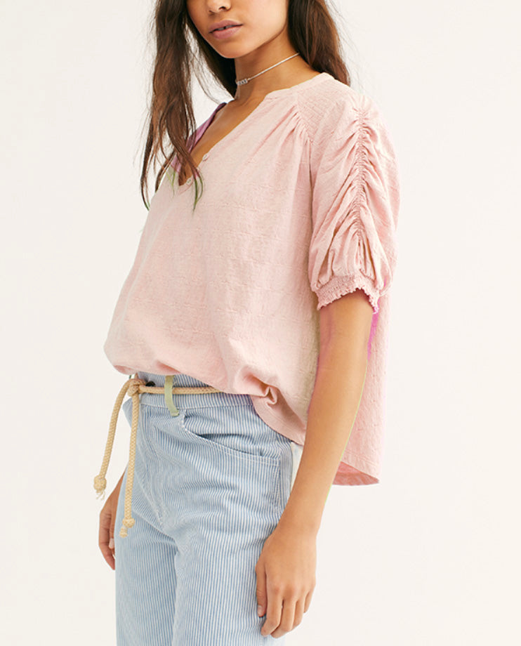 Free People Fever Dream Top in Dark Pink