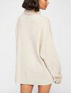 Free People Softly Structured Tunic Sweater in Oatmeal Heather