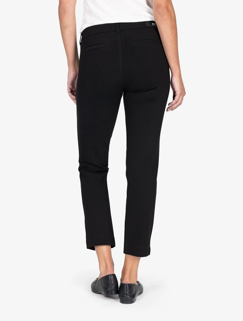 Kut from the Kloth Elizabeth Ponte Straight Leg Pant in Black