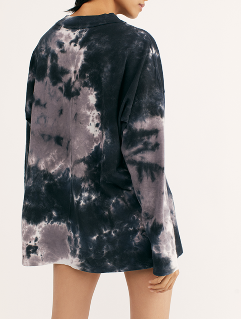 Free People Be Free Tie Dye Tee in Black