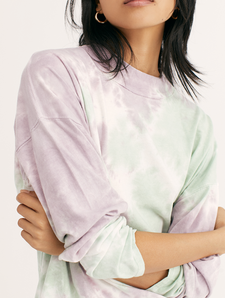 Free People Be Free Tie Dye Tee in Purple