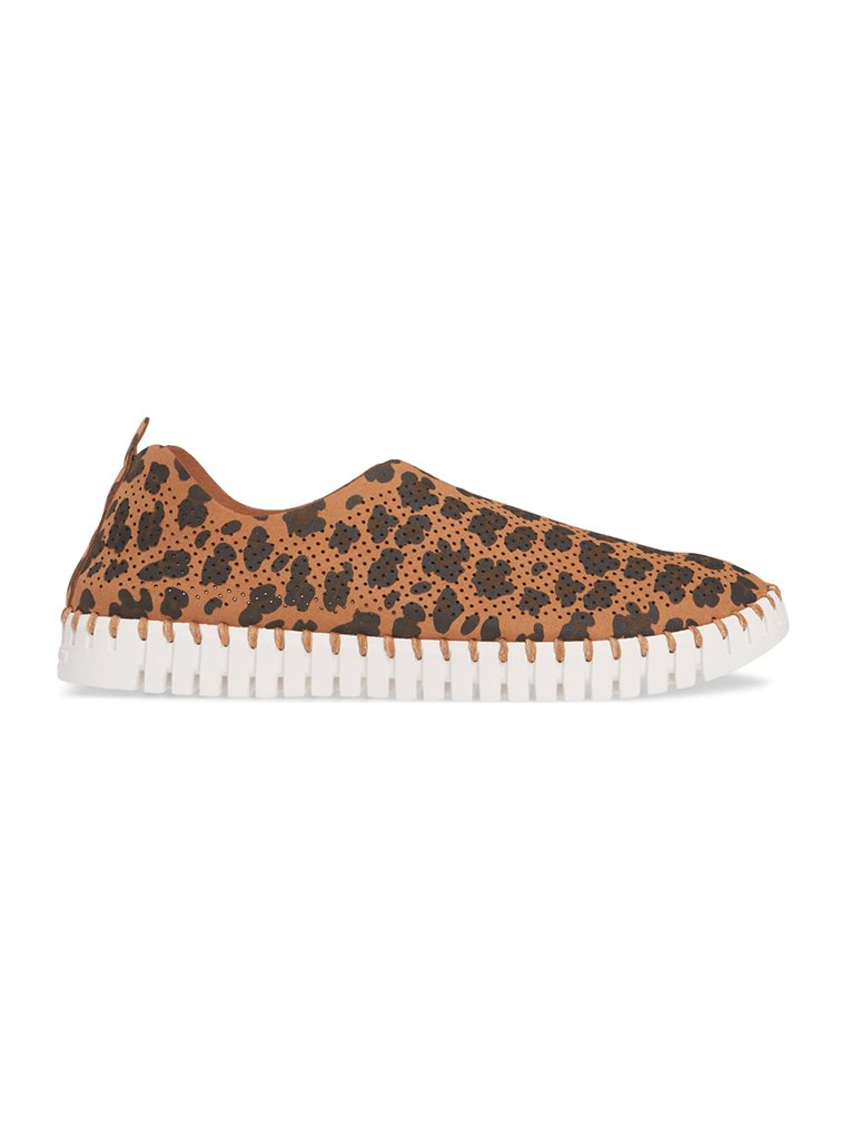 Ilse Jacobsen 139 Slip On in Leopard Brown