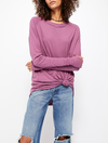 Free People Ombre Metti Crew Sweatshirt in Indigo