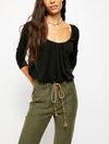 Free People Bondi Thermal Top in Black