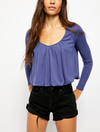 Free People Arden Tee in Sky