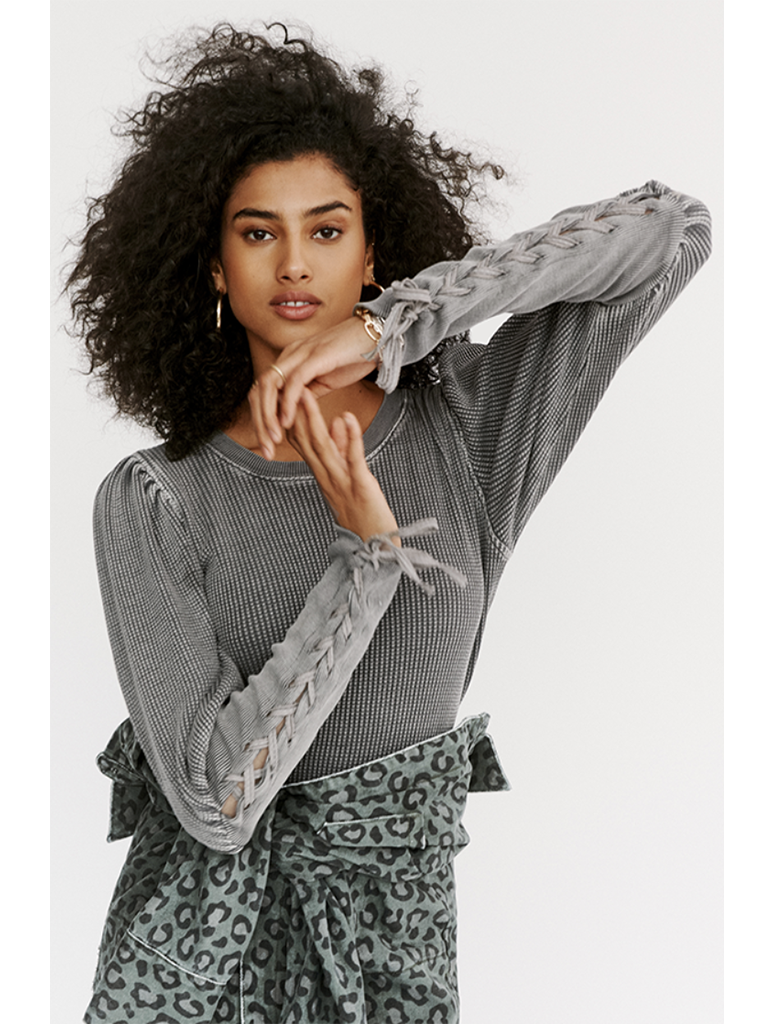 Free People Tasha Thermal in Grey