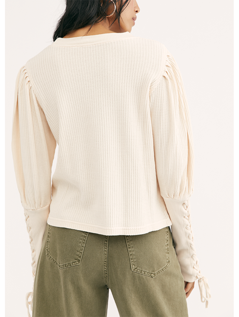 Free People Tasha Thermal in Ivory