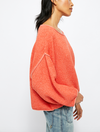 Free People Bardot Sweater in Coral