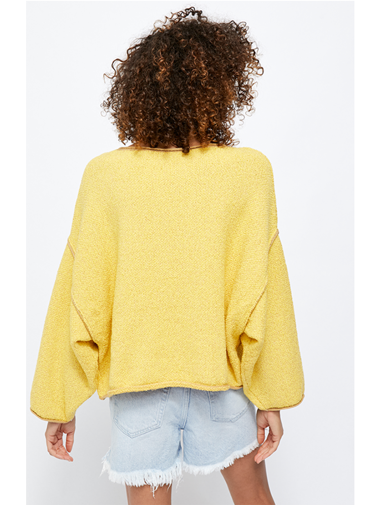 Free People Bardot Sweater in Yellow