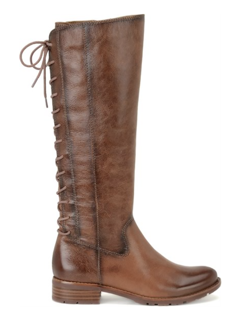 Sofft Sharnell Tall Lace Back Boot in Whiskey