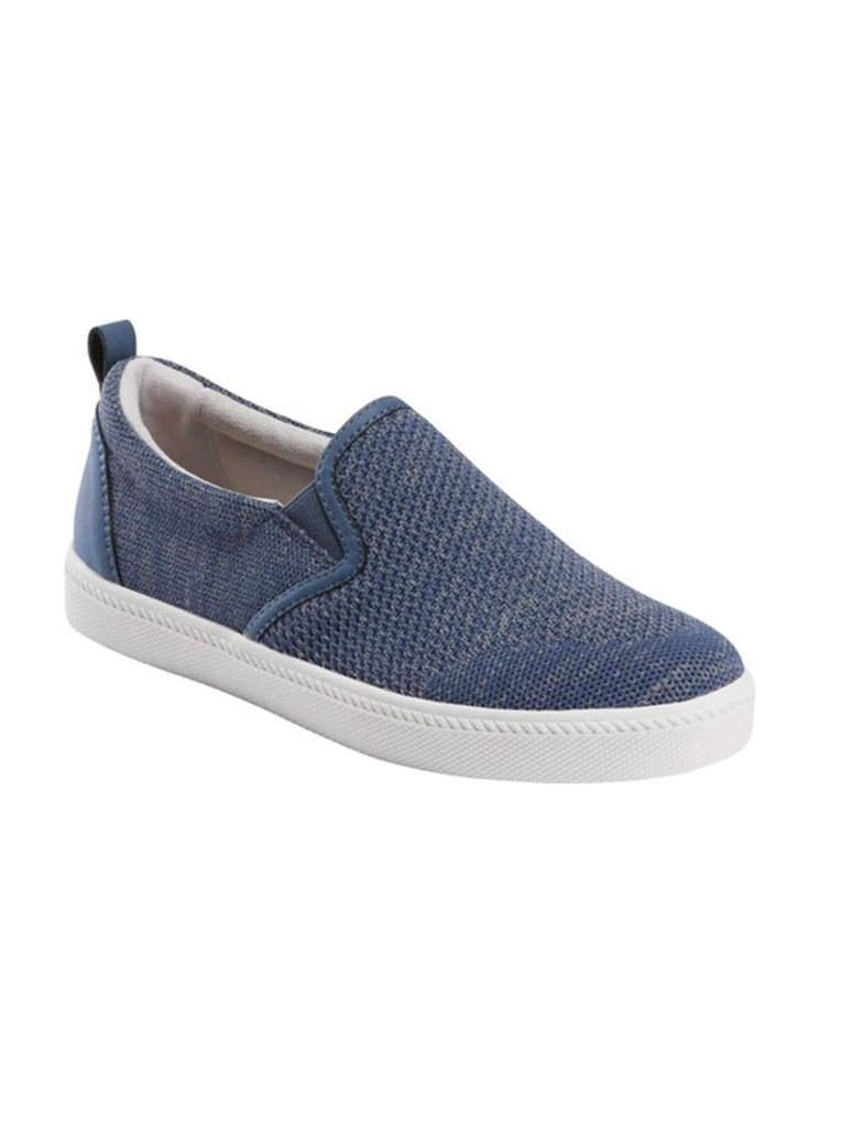Earth Zen Groove Sport Slip On Knit Sneaker in Indigo