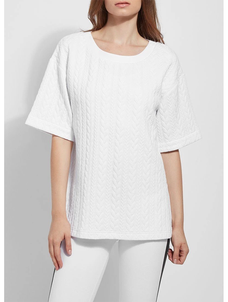 Lysse Kai Quilt Pullover Top in White