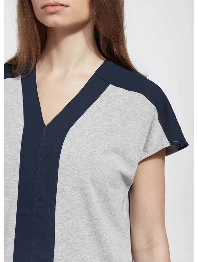 Lysse Yarrow Top in Heather Grey