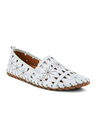 Spring Step Fusaro Etched Moccasin Loafer in White
