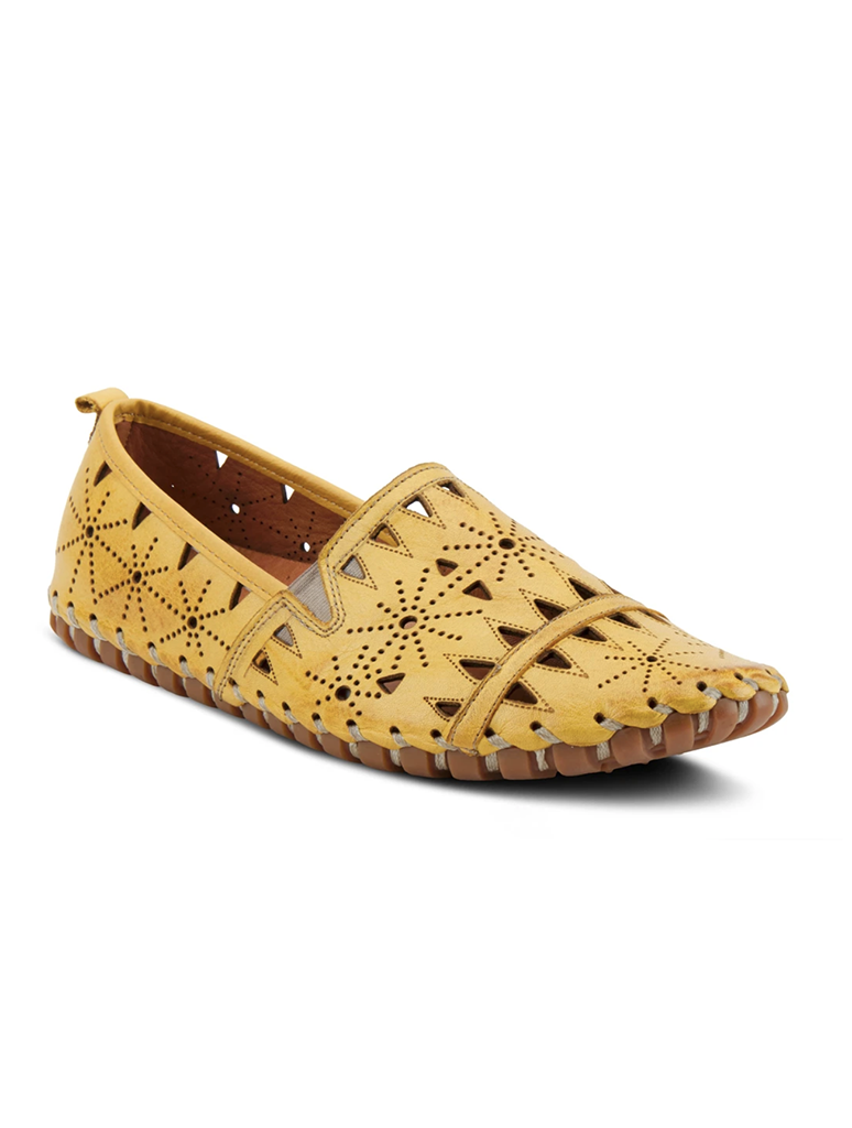 Spring Step Fusaro Etched Moccasin Loafer in Yellow