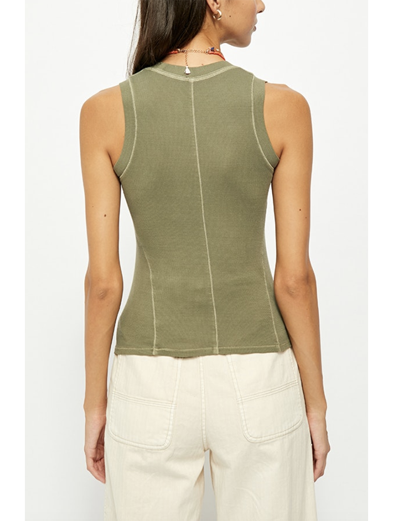 Free People U-Neck Tank in Army