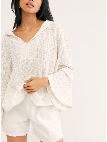 Free People Lay Up Cut Out Tee in White