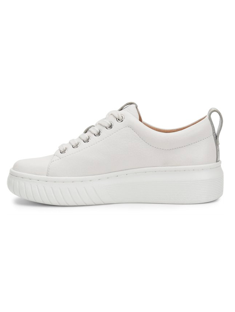 Sofft Pacey Lace Up Platform Sneaker in White