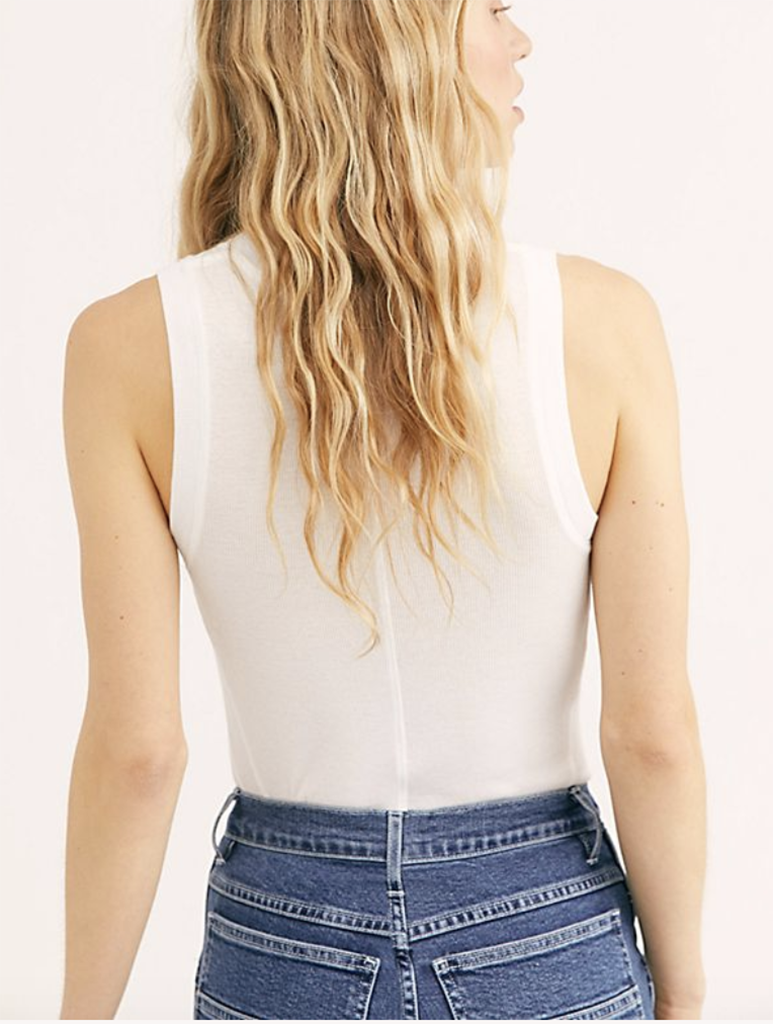 Free People U-Neck Tank in White