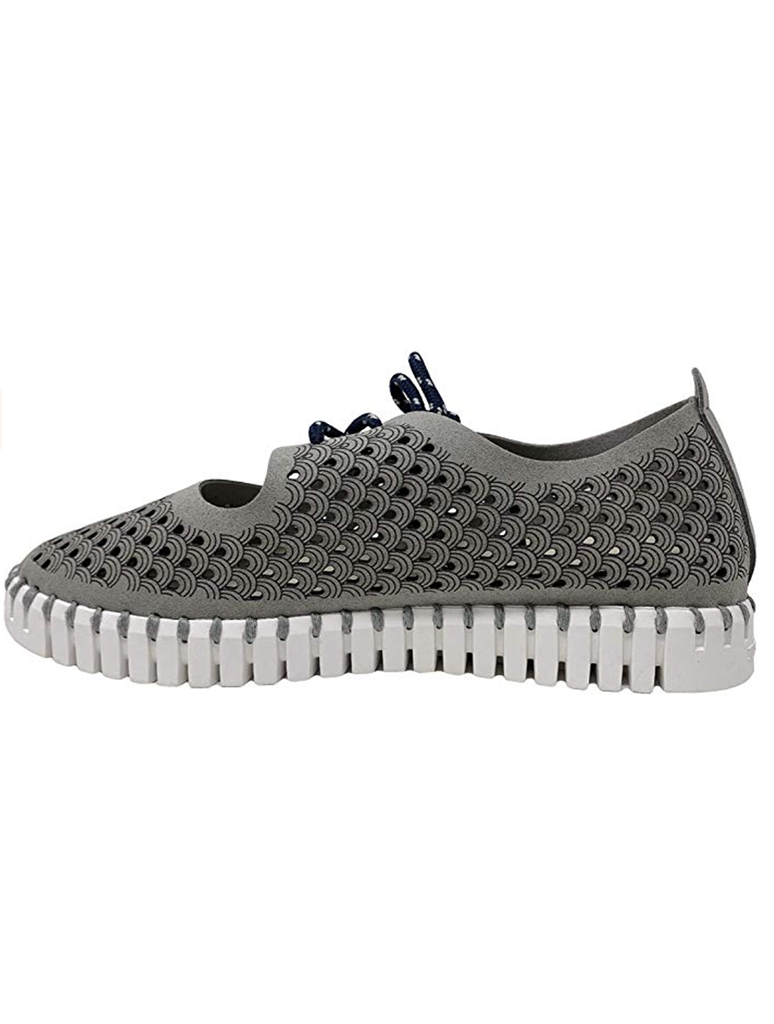 Ilse Jacobsen 3173 Tulip Mary Jane Lace up Shoe in Grey