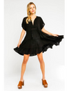 Olivaceous Baby Doll Dress in Black