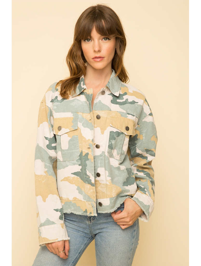 Mystree Jacket in Pastel Camo