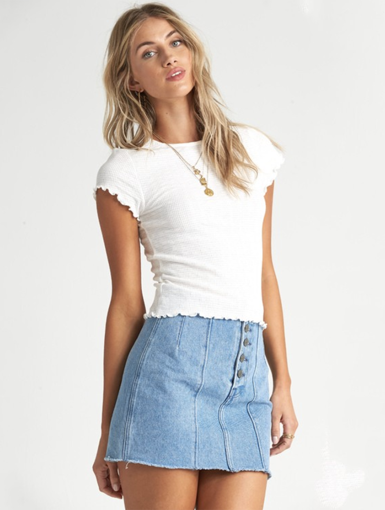 Billabong Secret Love Top in Salt Crystal