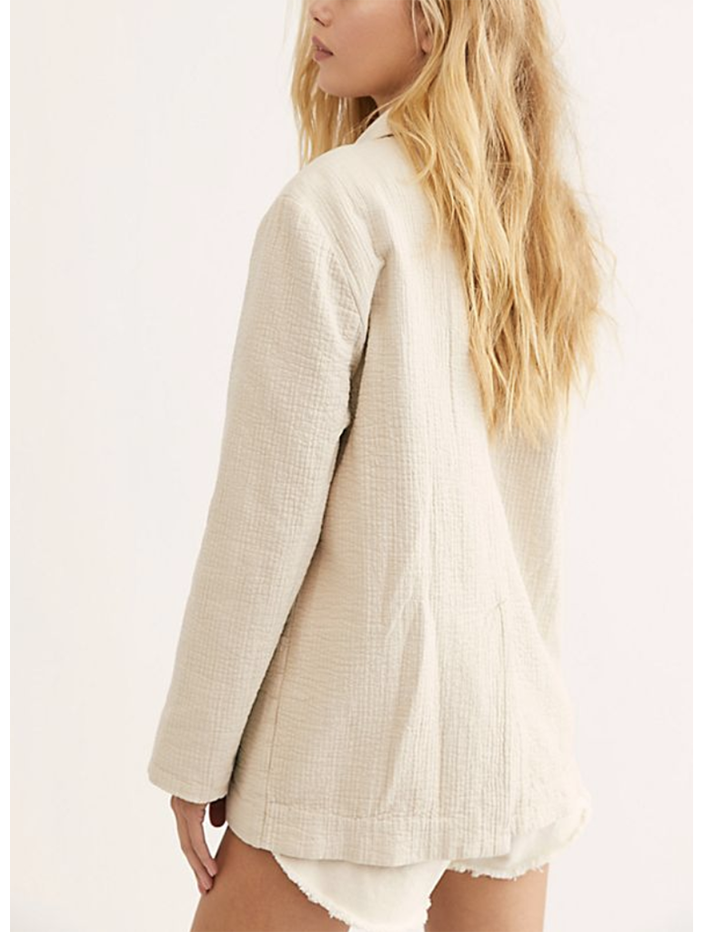 Free People Rowan Blazer in Ivory