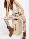 Free People Wild Child Skinny Jeans in Ivory