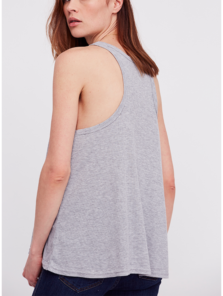 Free People Long Beach Tank in Grey