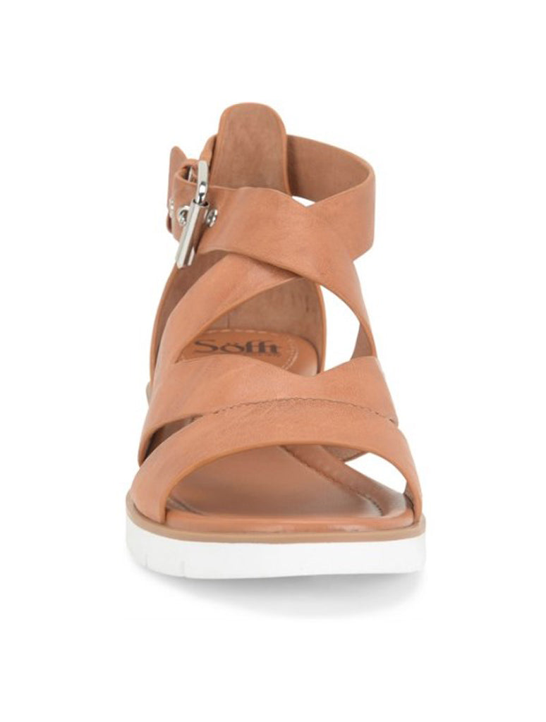 Sofft Mirabelle Flat Criss Cross Sandal in Luggage
