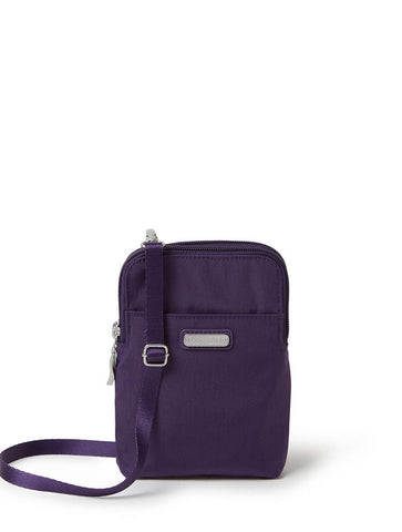 Baggallini All Day Backpack with RFID Phone Wristlet in Sterling Shimmer