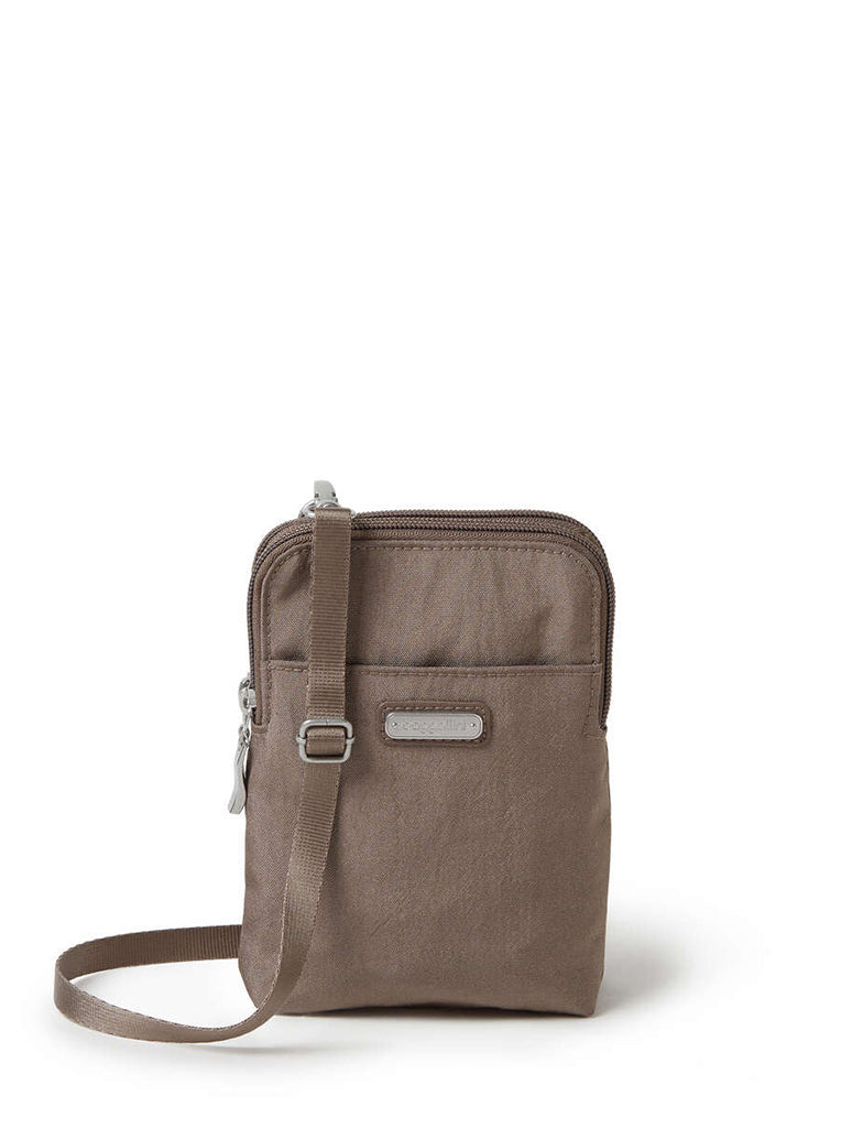 Baggallini Take Two RFID Bryant Crossbody in Portobello Shimmer