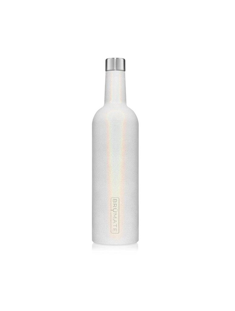 Brumate Winesulator 25oz Wine Canteen in Glitter White