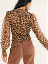 Free People Printed Twyla Top in Leopard