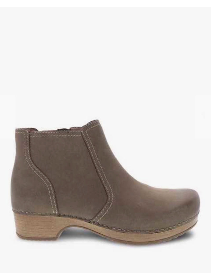Dansko Barbara Clog Boot in Taupe