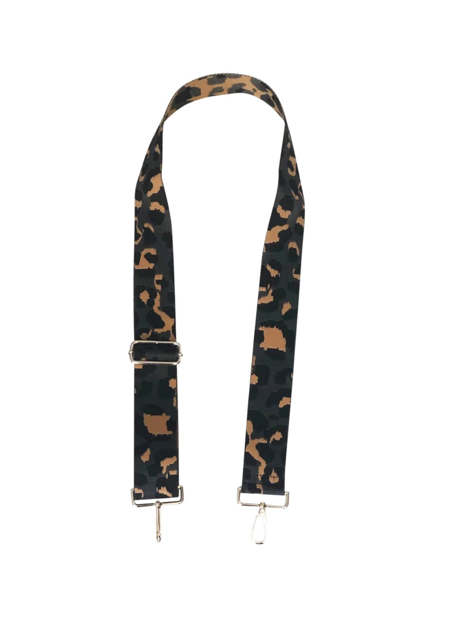 "Ahdorned 2"" Bag Strap in Grey Leopard"