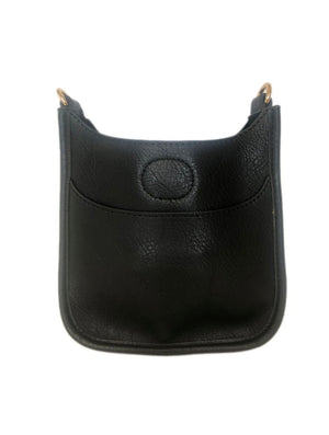 Ahdorned Petite Vegan Messenger Bag in Black--No Strap!