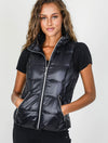 Anorak Short Puffer Vest in Black
