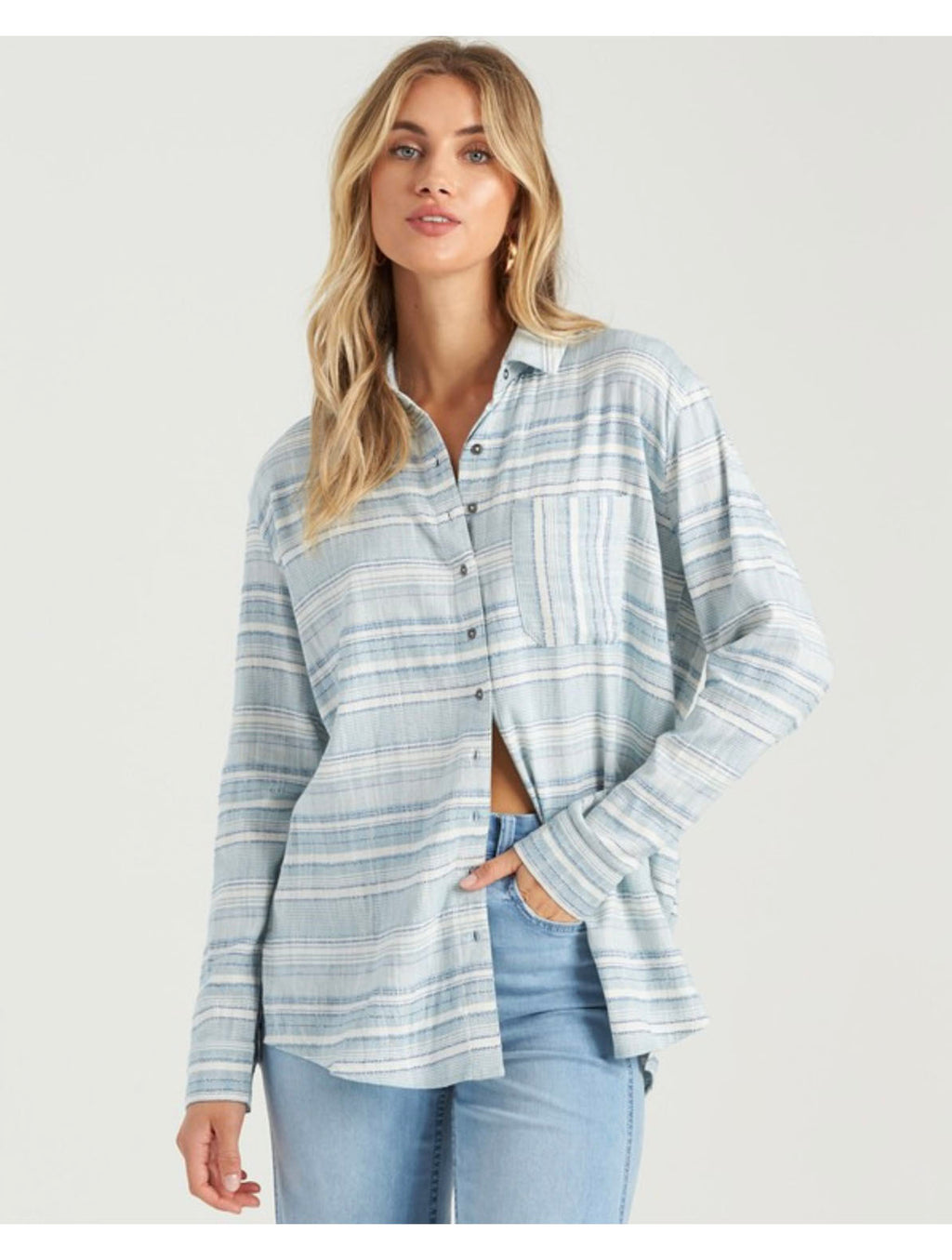 Billabong Easy Movin Top in Deja Blue