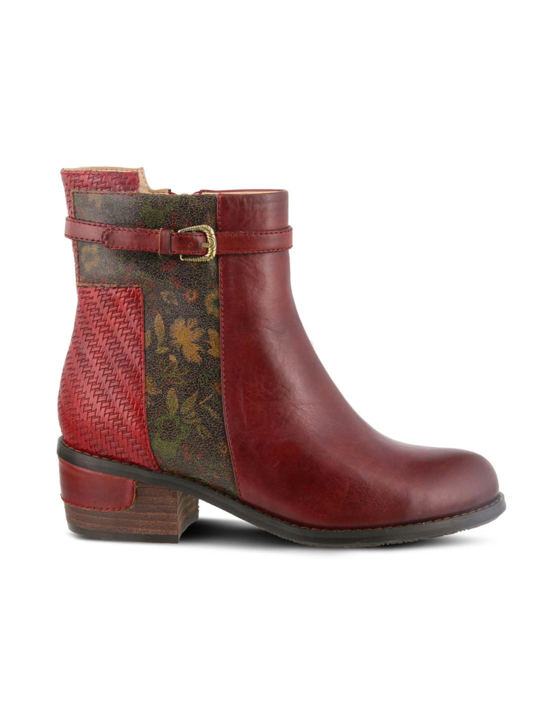 Spring Step Kanessa Bootie in Dark Red