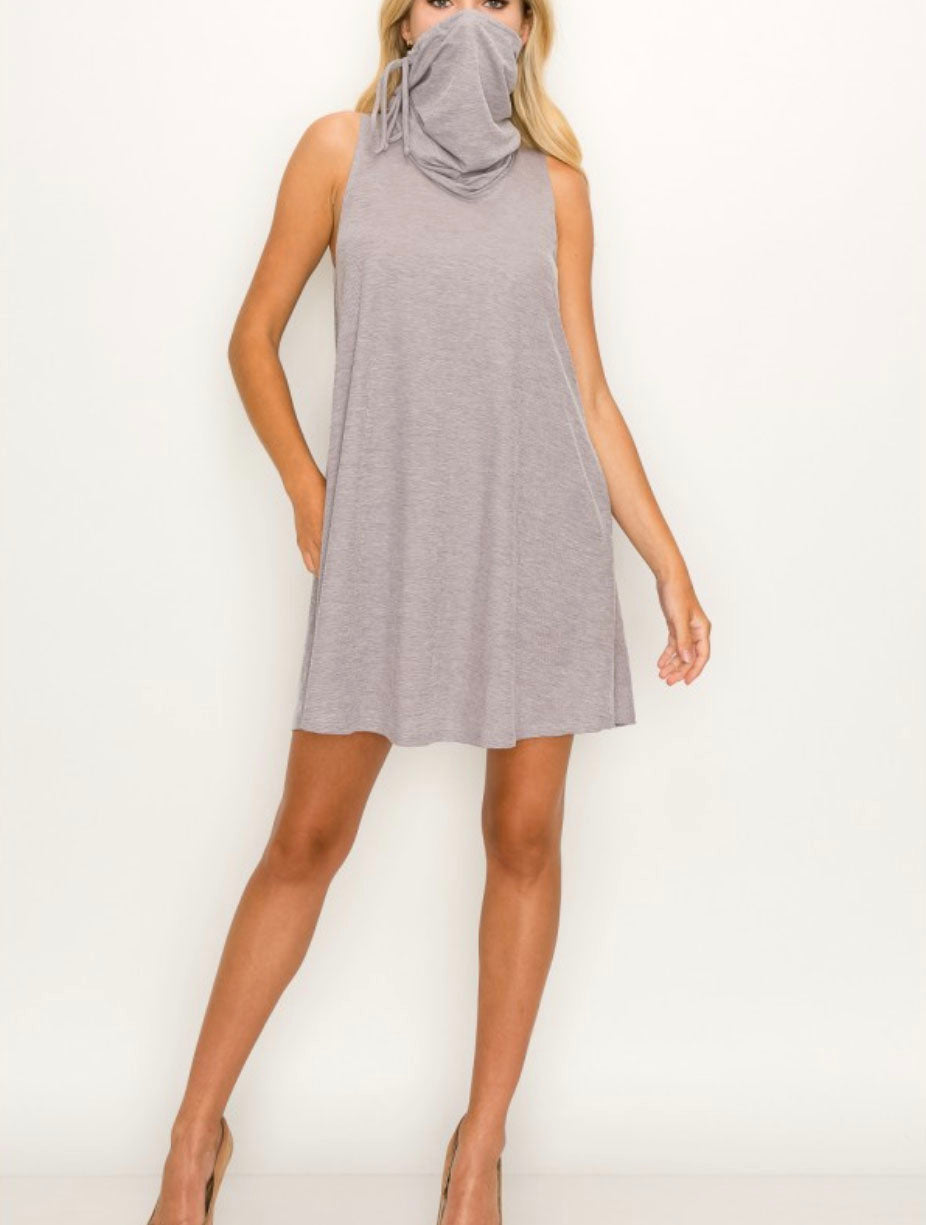 Coin 1804 Funnel Neck Dress in Lilac
