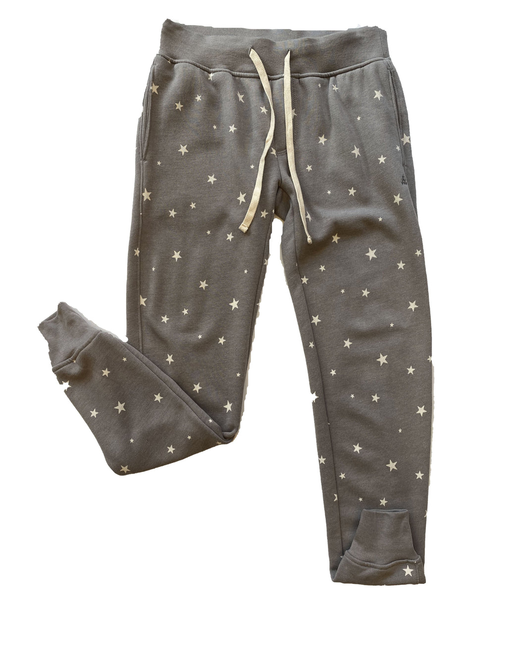 Alternative Apparel French Terry Jogger in Grey Stars