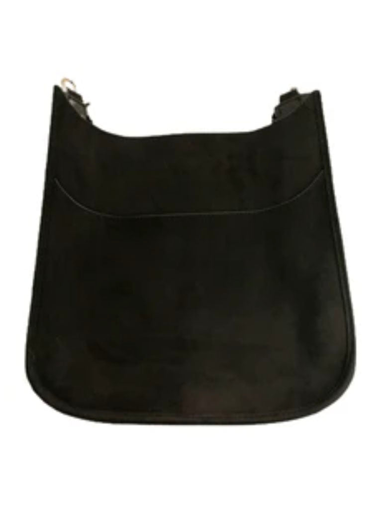 Ahdorned Large Vegan Suede Messenger Bag in Black-No Strap!